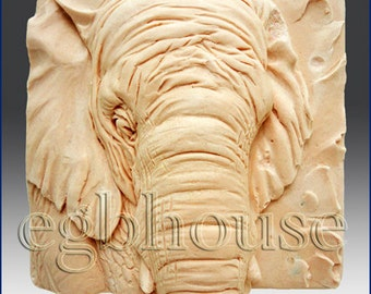 2D Silicone Soap/Candle Mold - Elephant close up -Buy from original designer - Say no to copy cats