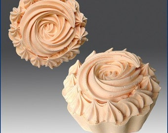 cup cake with icing top silicone soap and candle mold