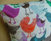Chirp The Day Away - Colorful Birds Pillow Cover - 16 inch
