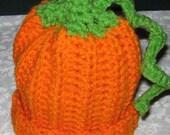 Crochet newborn  Infant or baby Pumpkin Hat