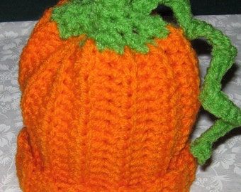 Crochet newborn  Infant or baby Pumpkin Hat