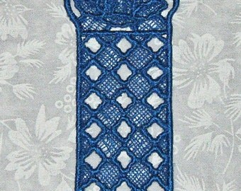Lace Bookmark, Bluebells