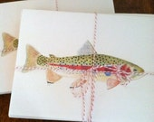 Rainbow Trout Notecards--Set of Ten with Envelopes