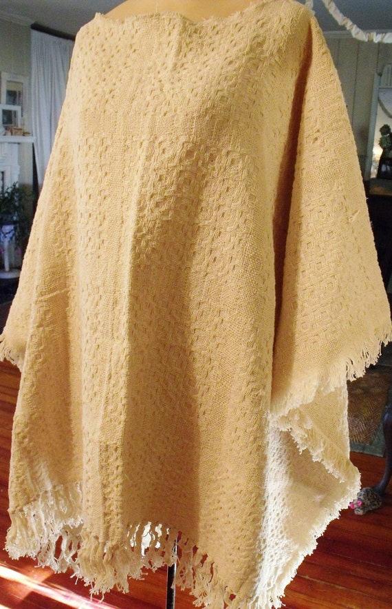 Plus Size Woven Cotton Fringed CoverUp