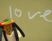 Bob Marley Felt Finger Puppet