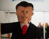Mitt Romney  Candidate for the 2012 Republican Party presidential nomination felt finger puppet