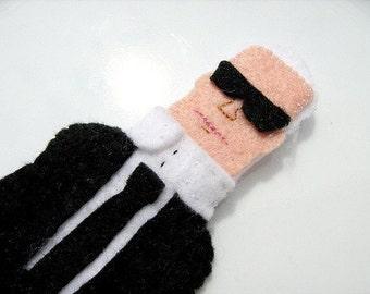 Karl Lagerfelt Fashion Felt Finger Puppet