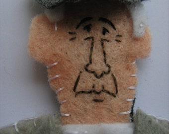 Leonard Cohen Felt Finger Puppet