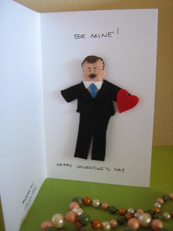 Custom Valentine Finger Puppet for Valentine's Day RESERVED FOR ALISON