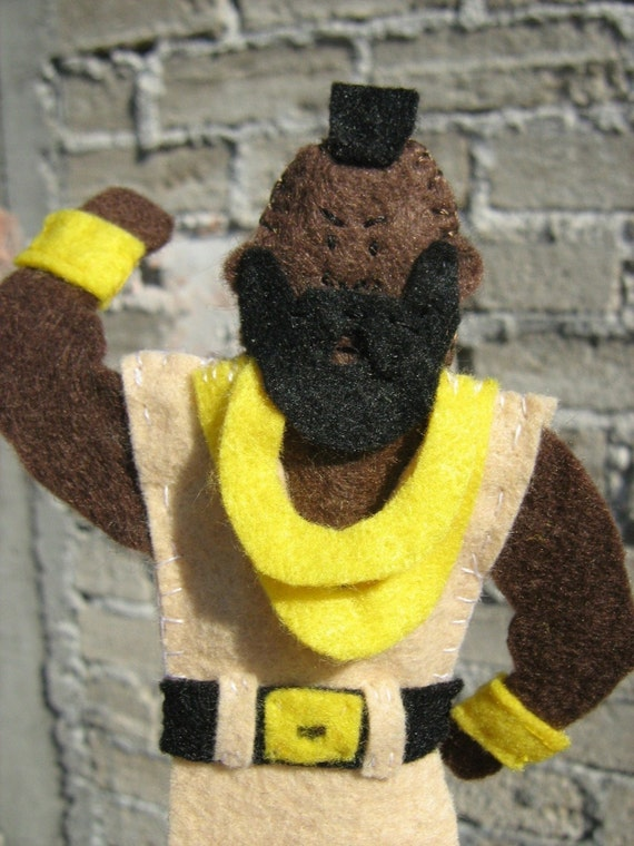 Mr. T  Felt Finger Puppet