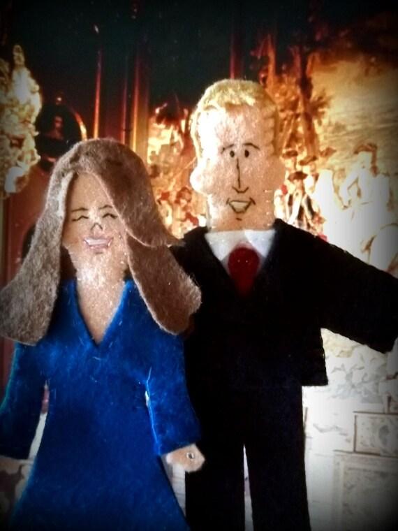 Prince William of Wales and Kate Middleton Felt Finger Puppet Set