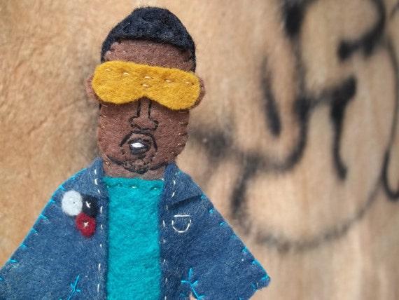 Kanye West Felt Finger Puppet
