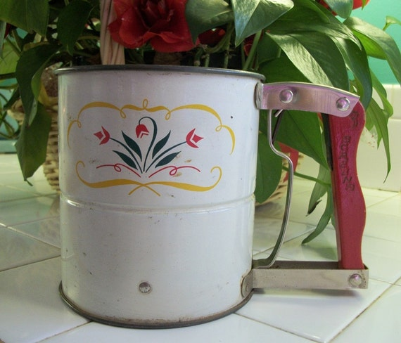 Items Similar To Red Handle Androck Flour Sifter For Your