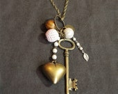 SALE Keys to your heart - long necklace