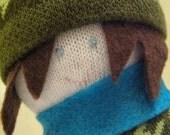 Shy snowboarder sock buddy