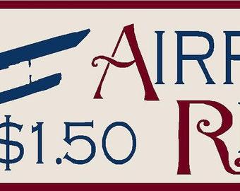 Airplane Rides Stencil 7 mil Mylar Reusable
