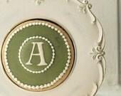 Monogram Cookies in Juniper Green - Set of 6 Orange Vanilla Spice Cookies