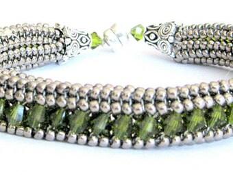 olive and siilver bracelet