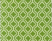 Moroccan Inspiration green w/ white (set of 2) --16x16