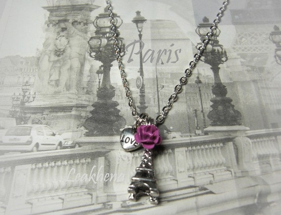 I left my heart in Paris- necklace