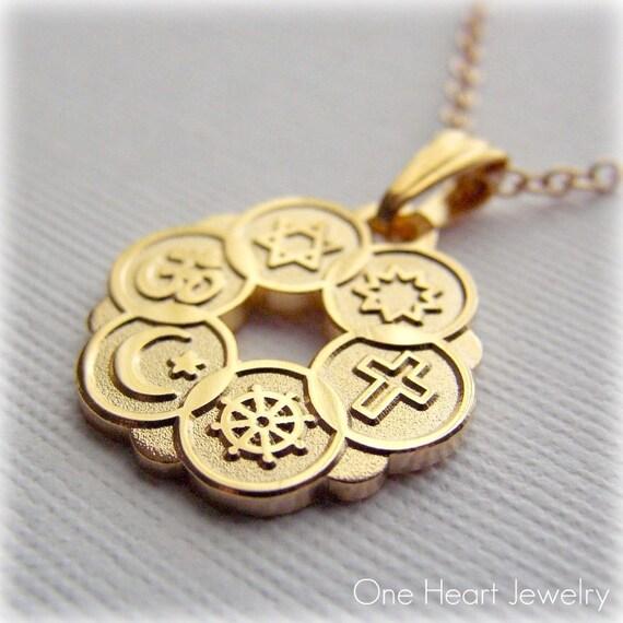 AA Alcoholics Anonymous Jewelry Pendant, 14k Gold, Medium ...  Jewel Symbol