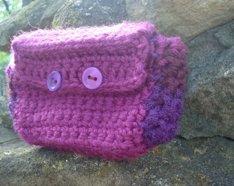 fuschia camera case