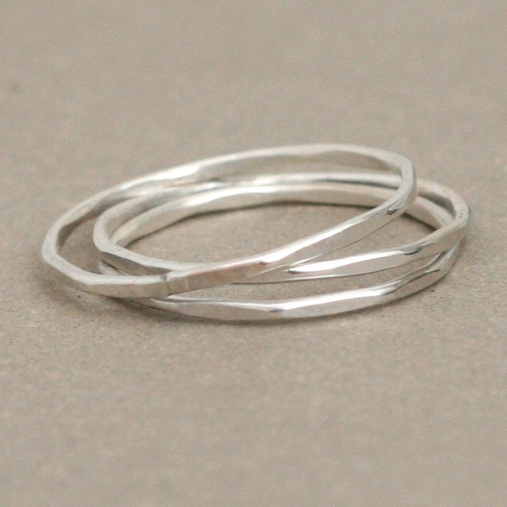 stacking rings sterling silver by