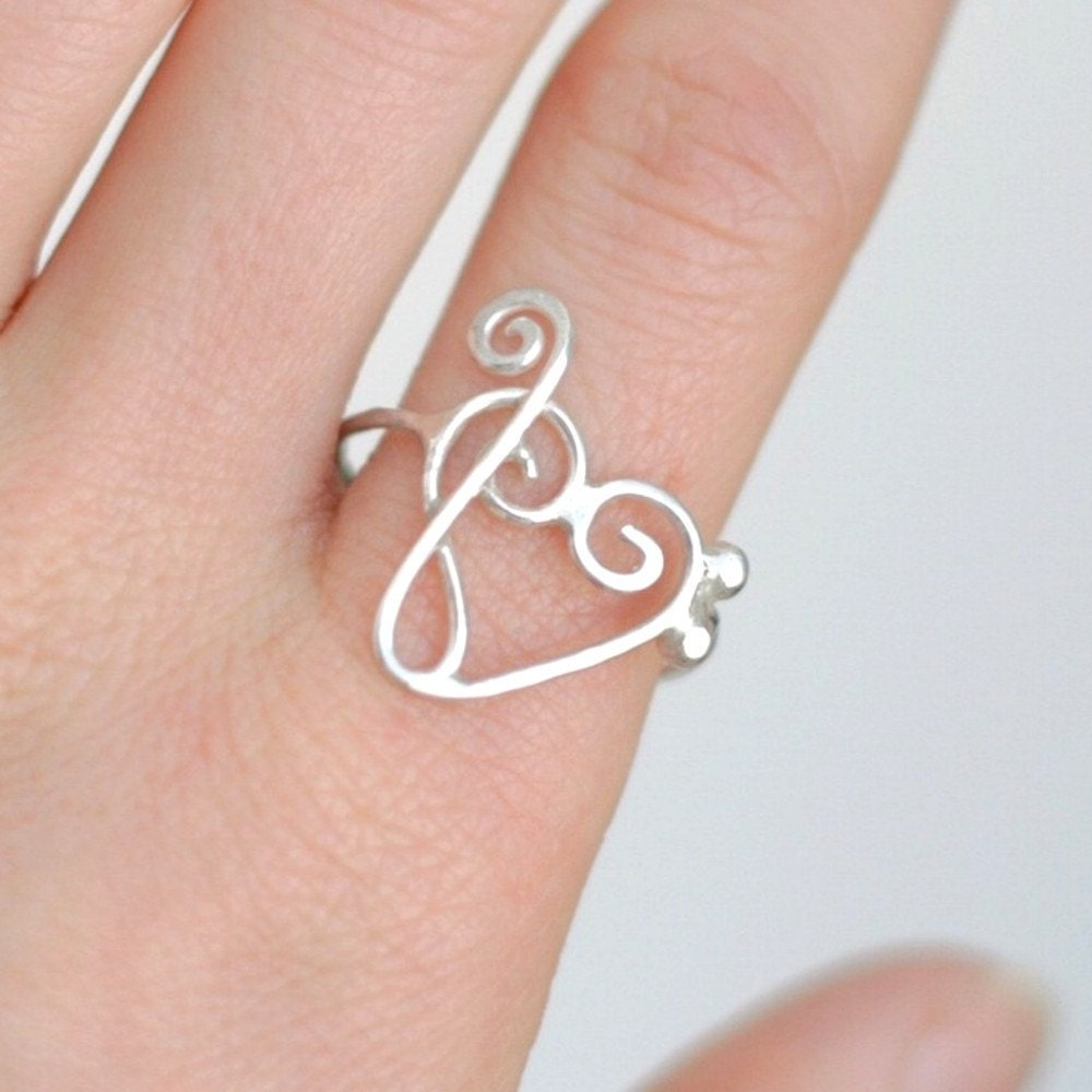 Music Clefs Heart Heart Ring Treble Clef Bass