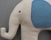Cute Rattle Toy Elephant in Blue Organic Cotton