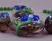 Cornflower Blue, Lampwork Bead Set by Graceful Creations