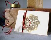 Paper snowflake - greeting card