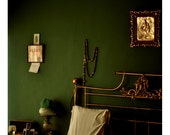 Green and Gold Bedroom - 8x8 Fine Art Photograph - Natural Light Interior Fine Art Print