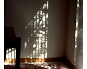 Window Light on Wall - 8x8 Fine Art Photograph - Quiet Natural Light Interior Photography