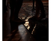 Feet in Shadow- 8x8 Fine Art Photograph - Dark Warm Natural Light Interior Photography