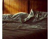 Morning Light on Bed - 8x8 Fine Art Photograph - Natural Light Interior Photography Print