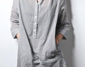 Reserved for septembrist Oversized boyfriend pinstripe shirt m