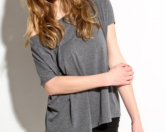 Effortless Loose T Shirt Oversize Delicately Soft Blouse