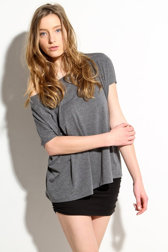 Womens Box Shirt Oversized Saturday Grey