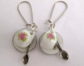 So Cute Little Teacup, Spoon and Saucer Earrings