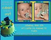 Birthday Party Invitation -boy- Gabriel