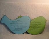 Baby shower or birthday invitation - bird - quantity 6