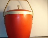 Vintage Ice Bucket Orange Retro