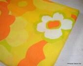 Vintage Flower Power Retro Pillowcase