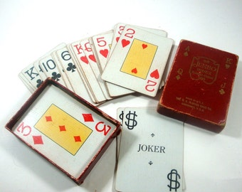 Vintage Deck Jumbo Index Playing Cards, Game Cards, Big Cards  (663-11)
