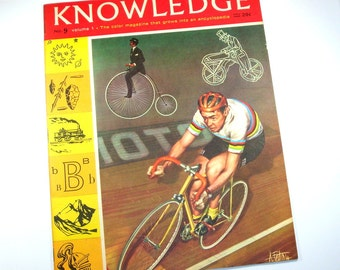 Vintage Magazine, Knowledge No. 9  Volume 1, Home Schooling Reference Book, 1963  (303-12)