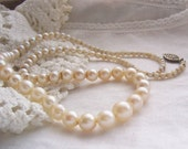 Vintage Genuine Pearl Necklace for Rescue or ReCreation