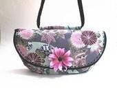 50% CLEARANCE SALE, Japanese print, handbag, shoulder bag, pink, fuchsia, aqua, grey, black