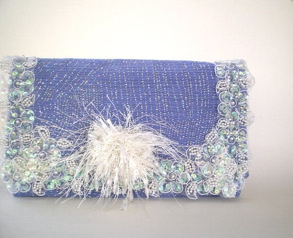 blue bridal clutch, bridal purse, evening bag, spring wedding, bridesmaid, something blue, maid of honor, Gatsby, flapper, prom