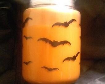 Orange Batty Batty Bat Soy Candle