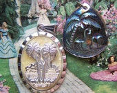 Vintage Florida Souvenir Pendants - One For You and One For A Friend